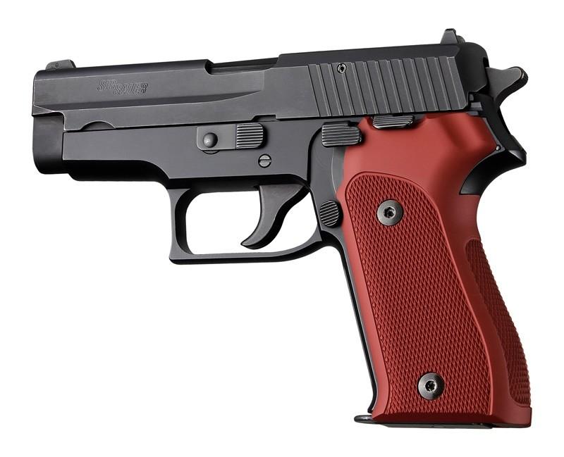 SIG Sauer P225 Checkered Aluminum - Matte Red Anodize