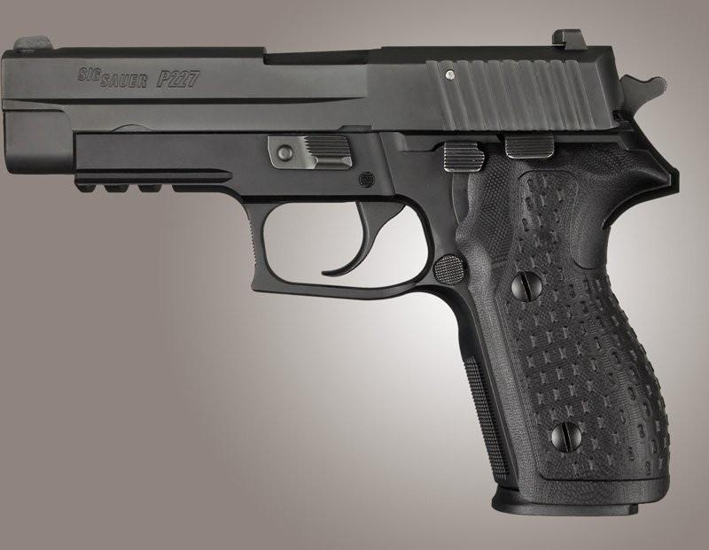 SIG Sauer P227 DA/SA Chain Link G10 - Solid Black