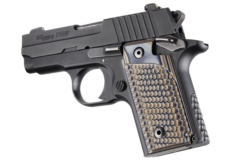 SIG Sauer P238 Piranha Grip G-Mascus Dark Earth G10