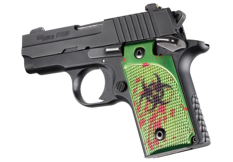 SIG Sauer P238 Checkered Aluminum - Zombie Anodize