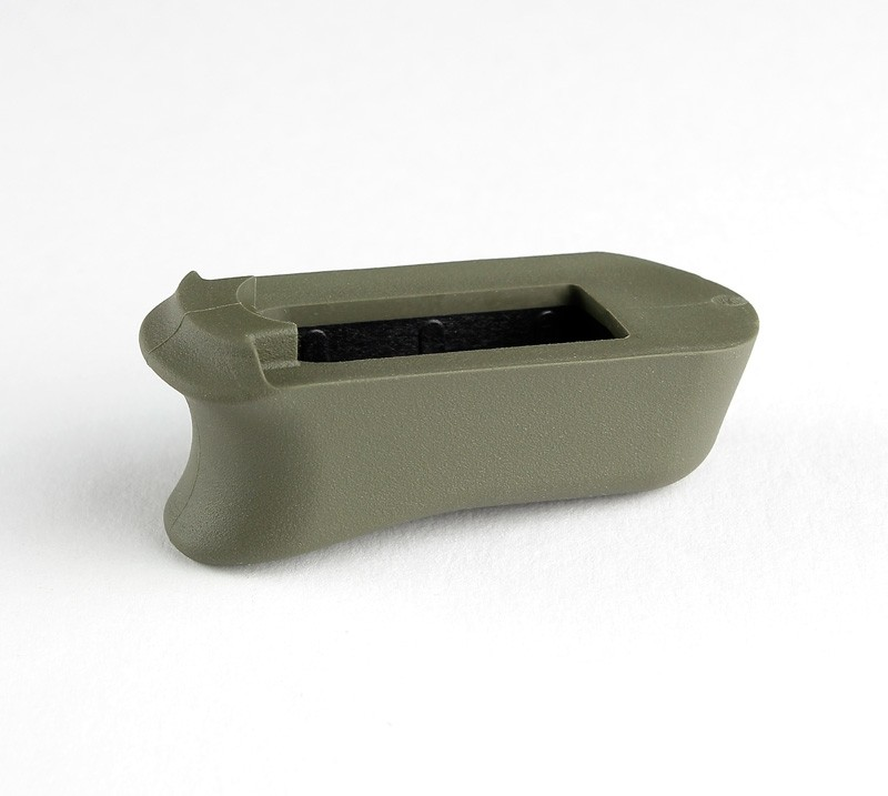 Kimber Micro 9: OD Green Rubber Magazine Extended Base Pad