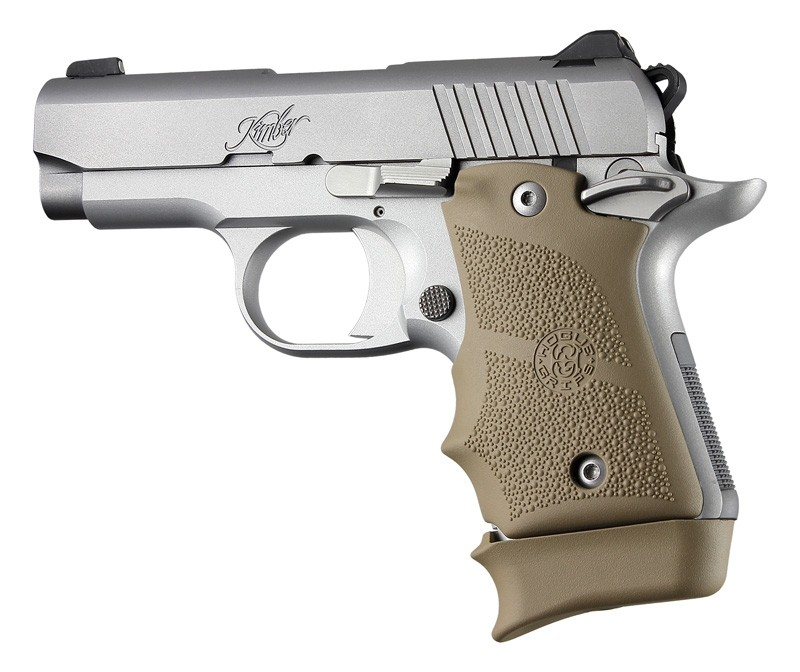 Kimber Micro 9 Ambi Safety Rubber Grip with Finger Grooves Flat Dark Earth