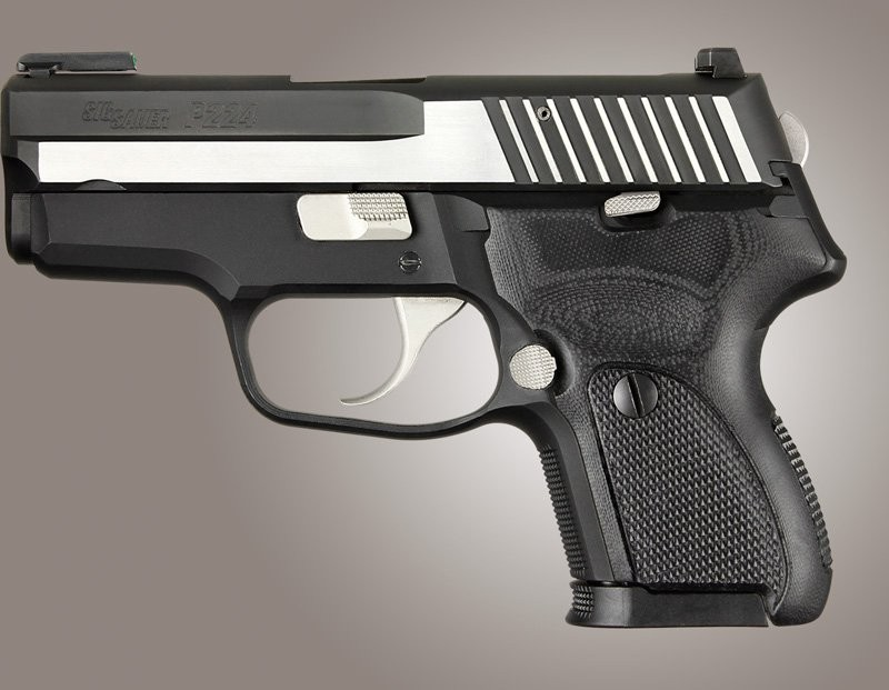 SIG Sauer P224 DAK Checkered G10 - Solid Black