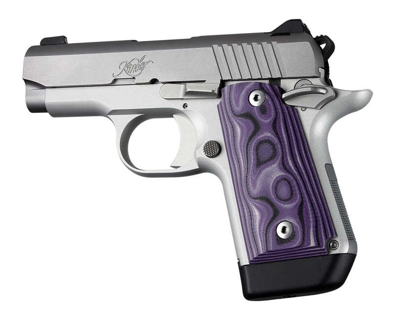 Kimber Micro 9 Ambi Safety Smooth G10 - G-Mascus Purple Lava