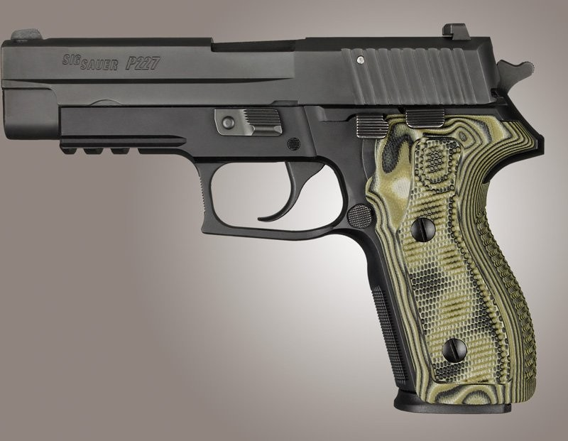 SIG Sauer P227 DA/SA Piranha Grip G10 - G-Mascus Green