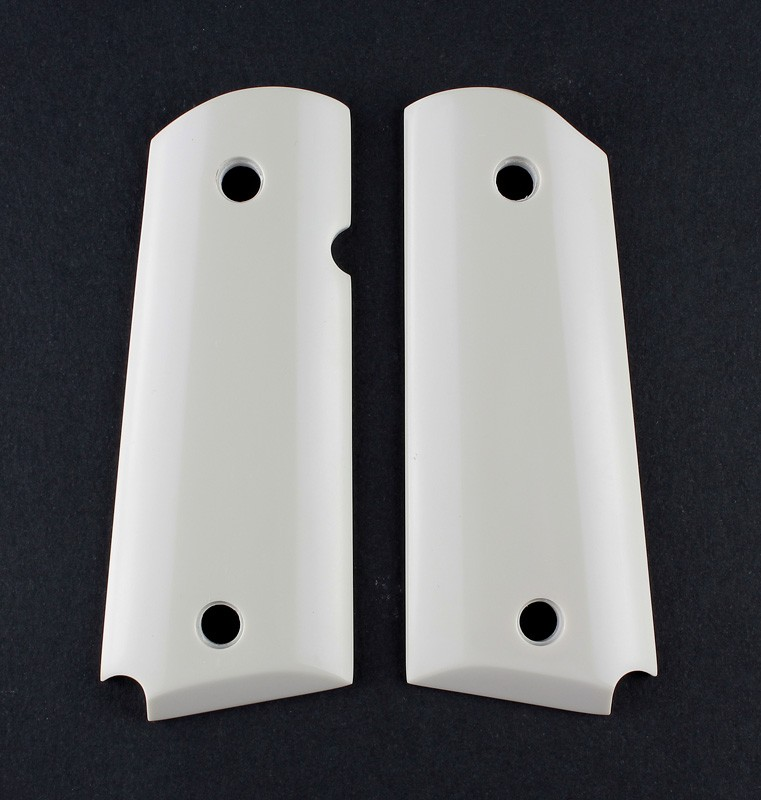 1911 Officers Model Smooth Ivory Polymer Ambidextrous Safety Cut