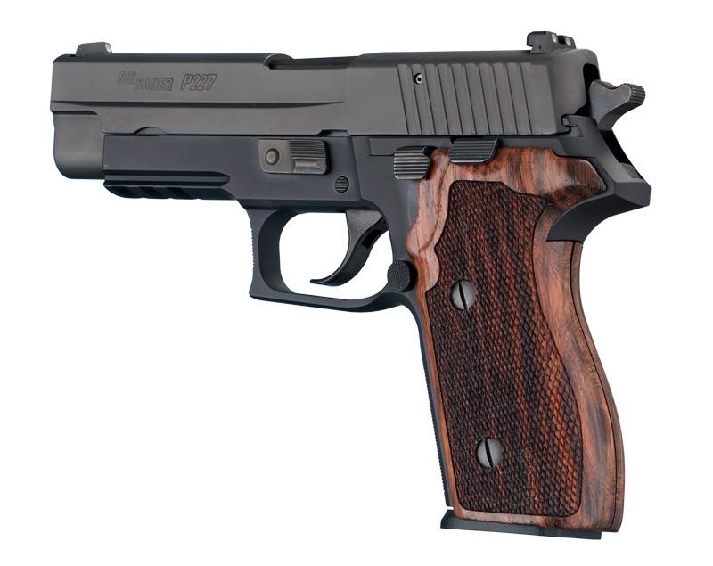 SIG Sauer P227 DA/SA Rosewood Checkered