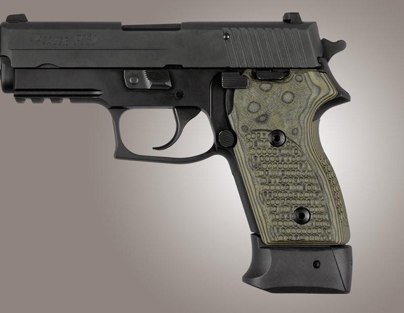 SIG Sauer P245 P220 Compact Piranha Grip G10 - G-Mascus Green