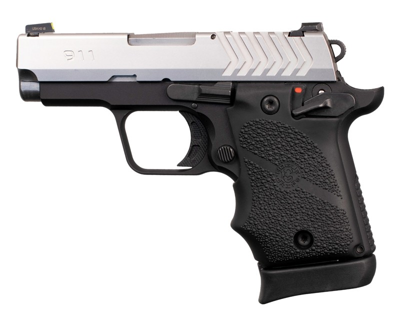 Springfield Armory 911 9mm: Cobblestone Rubber Grip with Finger Grooves (Ambi Safety) - Black