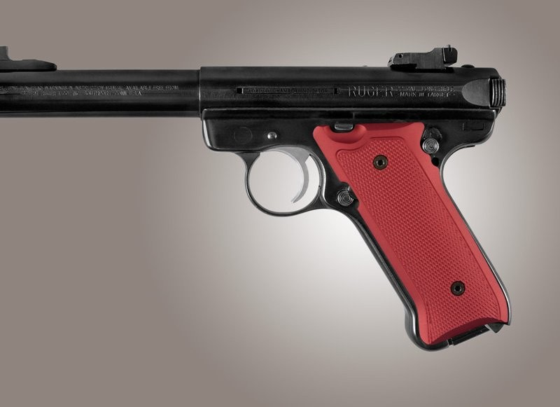 Ruger MK II / MK III Checkered Aluminum - Matte Red Anodize