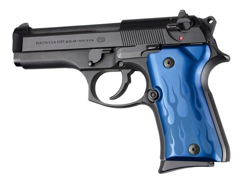Beretta 92 Compact Flames Aluminum - Blue Anodize