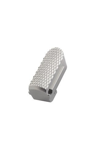 Sig P238/P938 Aluminum Mainspring Housing Checkered Brushed Gloss Clear Anodize