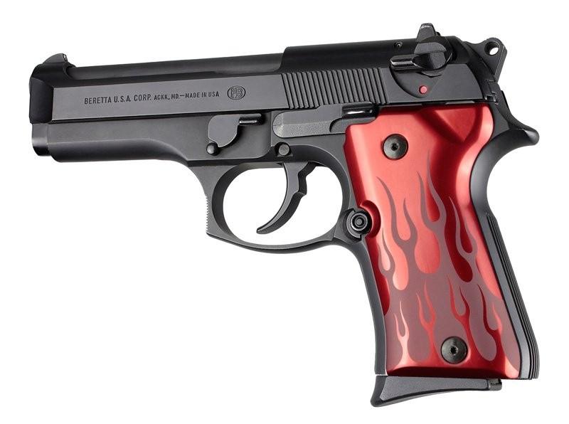 Beretta 92 Compact Flames Aluminum - Red Anodize