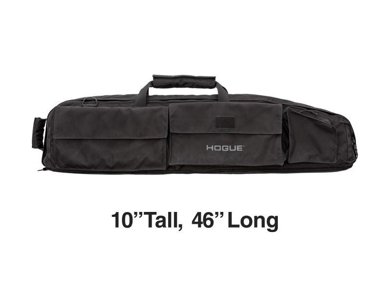 "Large Double Rifle Bag - Black 10"" Tall 46"" Long"