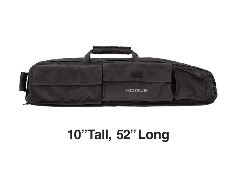 """Extra Large Double Rifle Bag - Black 10"""" Tall 52"""" Long"""
