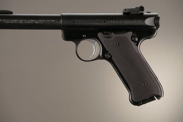 Ruger MK II / MK III Checkered Aluminum - Matte Black Anodize