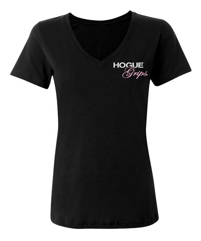 Hogue Grips Women V-Neck T-Shirt X-Large Black
