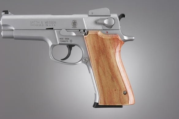 S&W 5900 Series Tulipwood Checkered