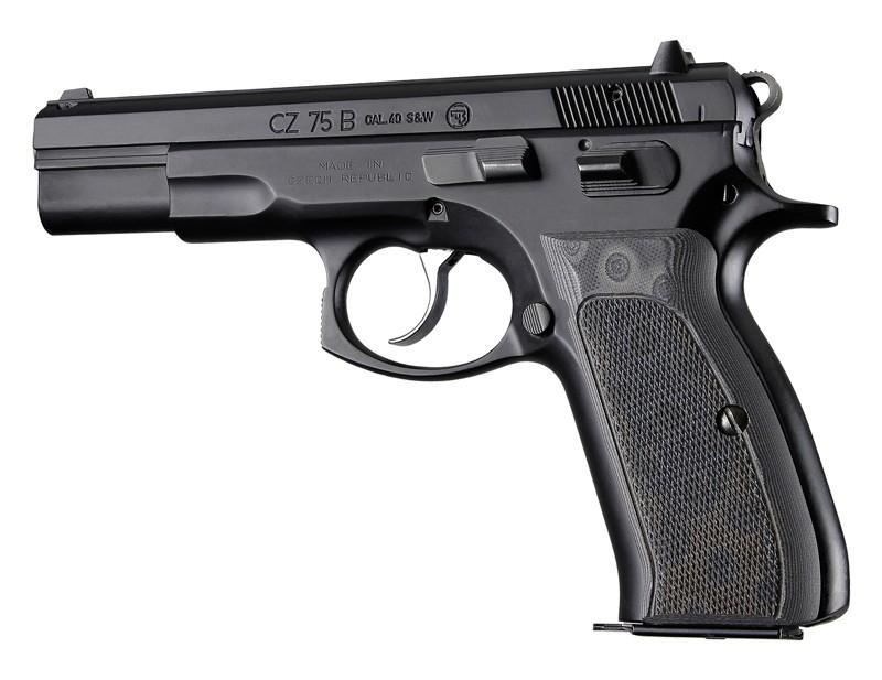 CZ-75 - CZ-85 Checkered G10 - G-Mascus Black/Gray