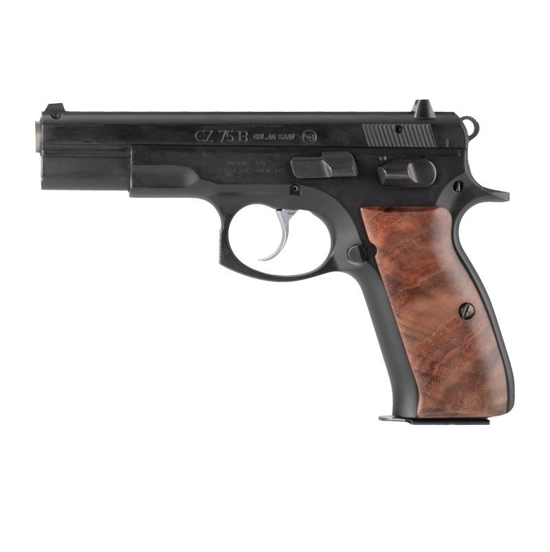 CZ-75 / CZ-85: Smooth Hardwood Grip - Walnut Burl