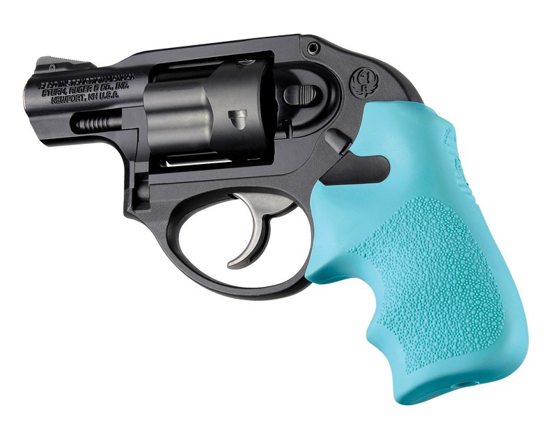 Ruger LCR/LCRx: Aqua Rubber Tamer Cushion Grip with Finger Grooves