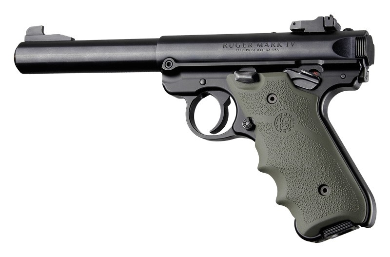 Ruger MK IV: OD Green Rubber Grip with Finger Grooves