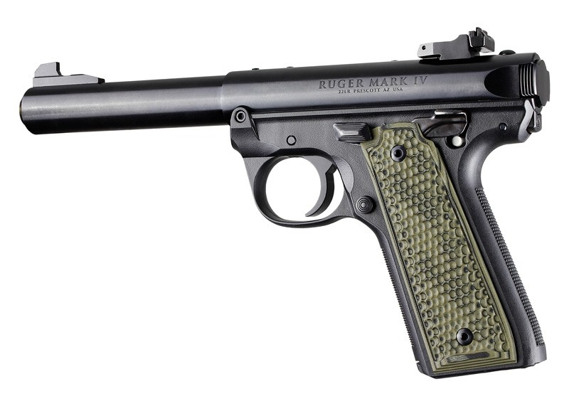 Ruger 22/45 MK IV: Green G-Mascus G10 Piranha Grip Panels