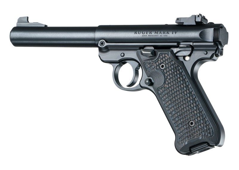 Ruger MK IV: Black/Grey Piranha G-Mascus G10 Grip