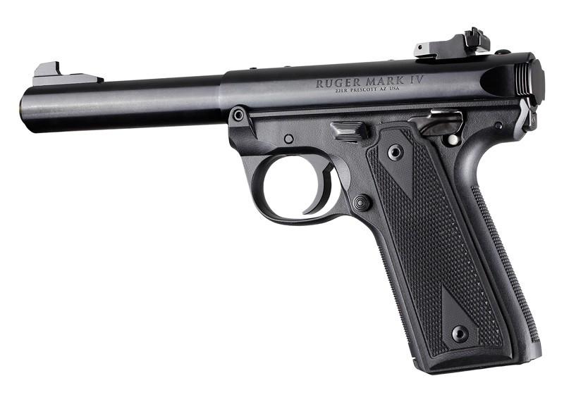 Ruger 22/45 MK IV: Solid Black G10 Checkered Grip Panels