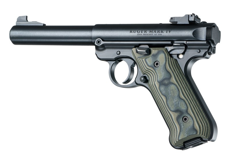 Ruger MK IV: Green Smooth G-Mascus G10 Grip
