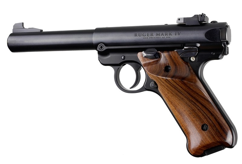 Ruger MK IV: Pau Ferro Smooth Hardwood Grip with Right Hand Thumb Rest