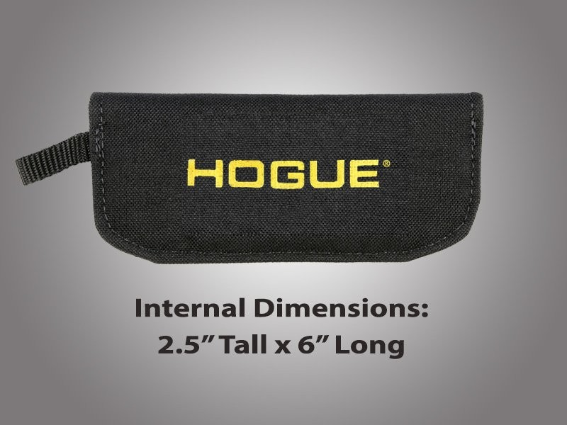 "Hogue Gear Large Folder Velcro Knife Pouch - Black 2 1/4"" tall X 6"" long"