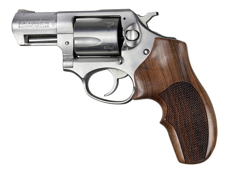 Ruger SP101 Pau Ferro Top Finger Groove Checkered