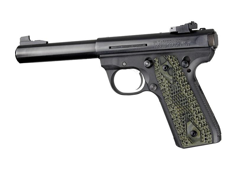 Ruger MK III 22/45 RP Piranha Grip G10 - G-Mascus Green