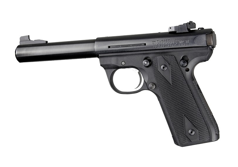 Ruger MK III 22/45 RP Checkered G10 - Solid Black