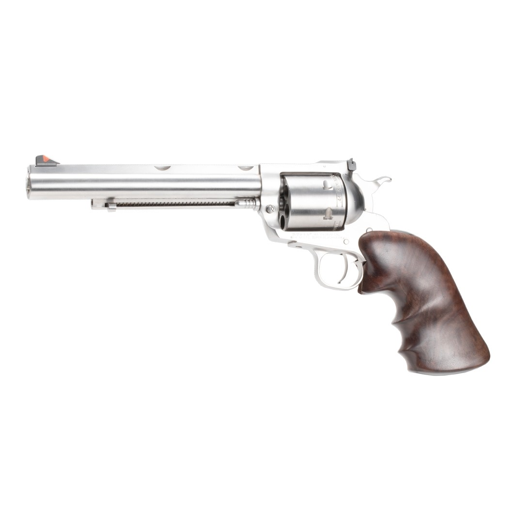 Ruger Super Blackhawk: Smooth Hardwood Grip with Finger Grooves - Walnut Burl