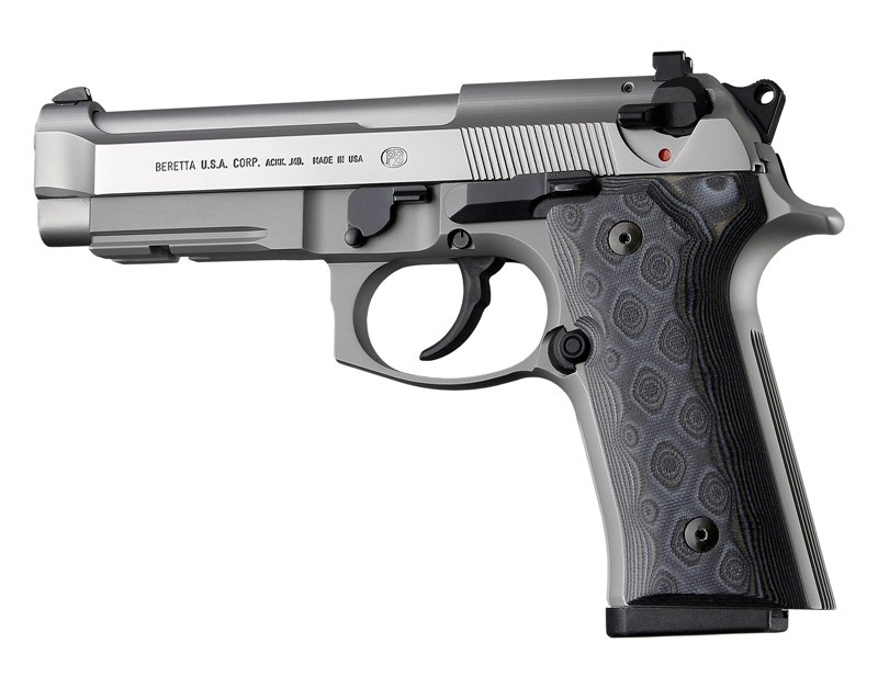 Beretta 92 M9A3/Vertec: Smooth G10 Grip Panels - G-Mascus Black/Grey