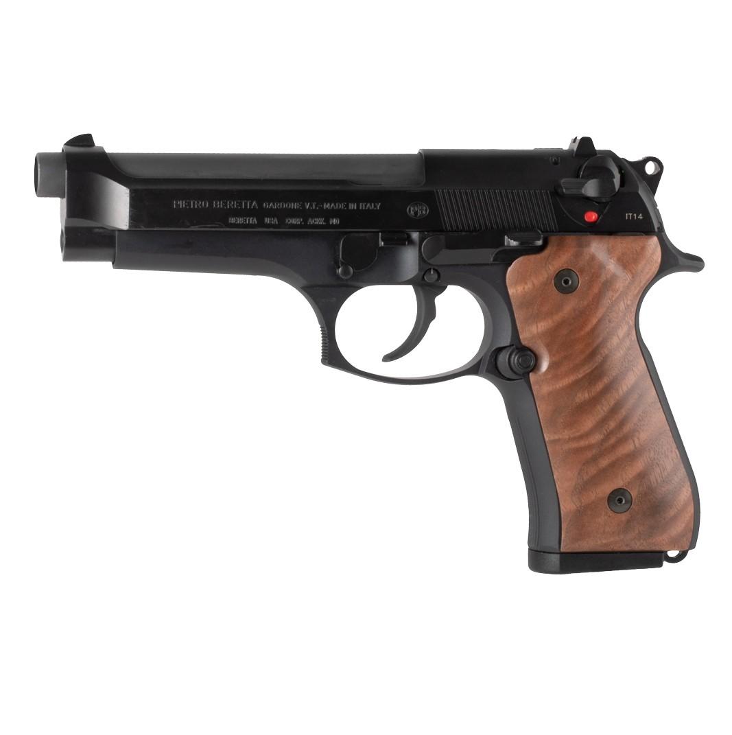 Beretta 92: Smooth Hardwood Grip - Walnut Burl
