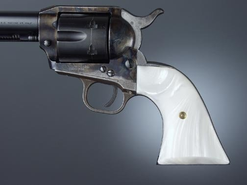 Colt Single Action White Pearl Cowboy Panels