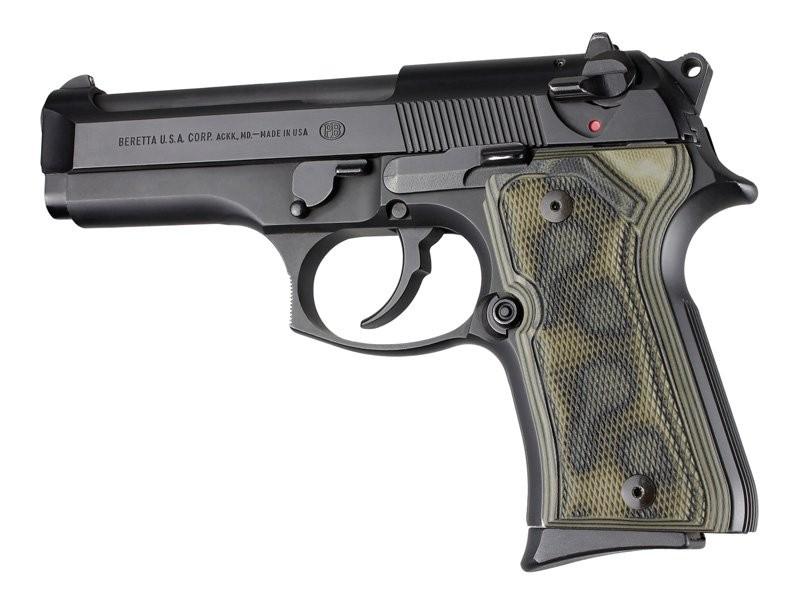 Beretta 92 Compact Checkered G10 - G-Mascus Green