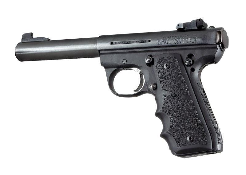 Ruger MK III 22/45 RP Rubber Grip with Finger Grooves Black