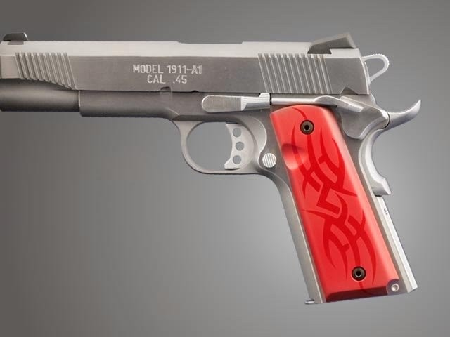 1911 Govt. Model 3/16 Thin Tribal Aluminum - Red Anodized