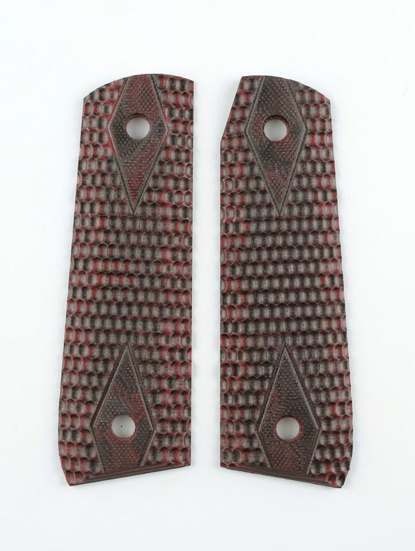 Ruger MK III 22/45 RP Piranha Grip G10 - G-Mascus Red Lava