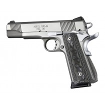1911 Govt. G10 Magrip Kit - Checkered Arched Black/Gray G-Mascus