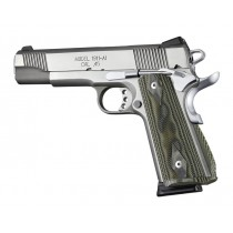 1911 Govt. G10 Magrip Kit - Checkered Arched Green G-Mascus