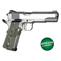 Green Laser Enhanced Magrip Kit for 1911 Govt. Model: Piranha G10 - G-Mascus Green Lava
