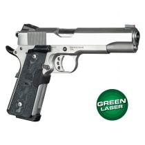Green Laser Enhanced Magrip Kit for 1911 Govt. Model: Piranha G10 - G-Mascus Black