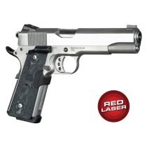 Red Laser Enhanced Magrip Kit for 1911 Govt. Model: Piranha G10 - G-Mascus Black