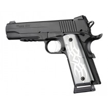 1911 Govt. Model 9/32 Thick Tribal Aluminum - Clear Anodized