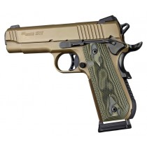 1911 Govt. Model Round Heel Checkered G10 - G-Mascus Green